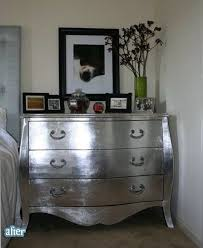 silver paint for furniture. metallic painted furniture silver chest of drawers paint for n