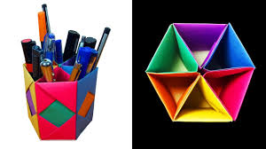 How to Make a beautiful Pen / Pencil Container or stand with 6 Storage box  - HD - YouTube