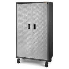 Black metal storage cabinet Double Door Image Is Loading Metalstoragecabinetforgaragecasterswheelheavy Ebay Metal Storage Cabinet For Garage Casters Wheel Heavy Duty Locker