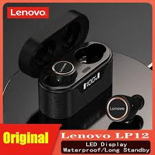 Original <b>Lenovo LP12 TWS</b> Wireless Earphone Bluetooth 5.0 ...