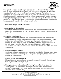 ucs letter of recommendation resumes resume handout university of north carolina