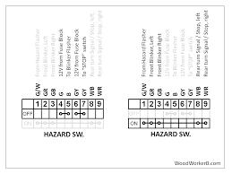240z multifunction switches woodworkerb understanding the hazard switch