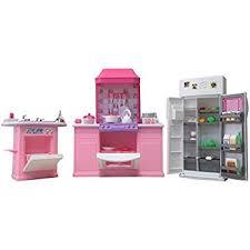 Amazon Barbie Size Dollhouse Furniture Kitchen Set Toys