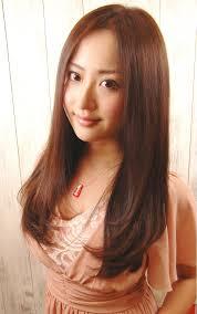 前髪なしノーバングブラウンの人気ヘアスタイルおしゃれな髪型画像