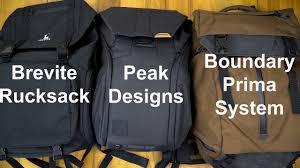 Peak Design Vs Brevite Peak Designs Boundary Backpack Comparison Part I