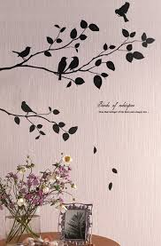 birds tree wall decals stickers for kids rooms