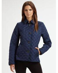 Lyst - Burberry brit 'copford' Quilted Jacket in Blue & Burberry Brit. Women's Blue 'copford' Quilted Jacket Adamdwight.com