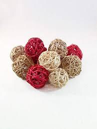 Decorative Vase Filler Balls Unique Amazon Decorative Spheres Orbs Red Tan And Cream Rattan Ball