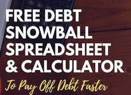 Free Debt Snowball Calculator Debt Help