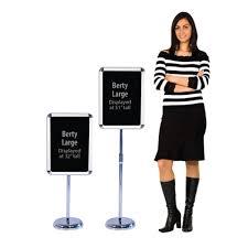 sign holder graphic pedestal snap frame display stand 12x16