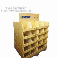 piled display china supermarket paper shelf pile head piled display