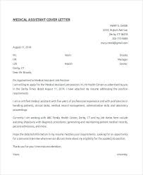 Cover Letter For Resume Medical Assistant Medical Assistant Cover