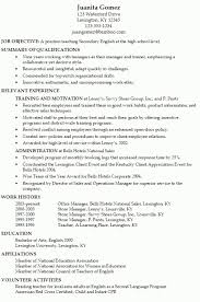 Resume Example For Teenager
