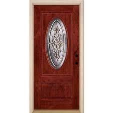 mahogany woodgrain cherry finish fiberglass doors