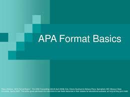 Ppt Apa Format Basics Powerpoint Presentation Id 1780733