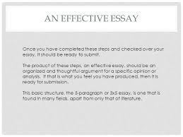 rhetoric and composition ppt  an effective essay once you have completed these steps and checked over your essay it