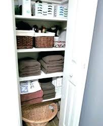 linen closet storage ideas bathroom