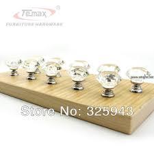 20pcs 30mm clear glass crystal bedroom furniture hardware kitchen bedroom furniture pulls