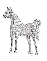 Small Picture Zentangle Horse Coloring Page for Adults plus Bonus Easy Horse