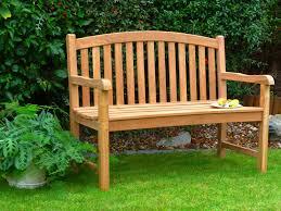 garden bench single oval back teak garden bench 120cm