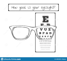 Eye Exam Snellen Chart Snellen Chart For Eye Test Sharp And Blurred Stock