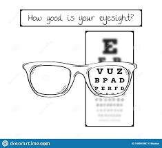 Eye Chart Letters Snellen Chart For Eye Test Sharp And Blurred Stock