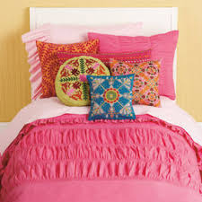 Girls Bedding: Girls Pink Ruched Bedding Set - Twin Hot Pink ... & Girls Bedding: Girls Pink Ruched Bedding Set - Twin Hot Pink Rouched  Comforter Cover Adamdwight.com