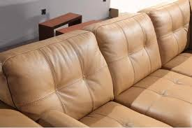 brand new innovative camel color leather sofa italian leather sofa sectional pw38