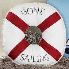 Round Decorative Pillows Sail Away Nautical Decorative Pillows