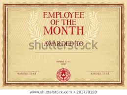 Free Employee Of The Month Certificate Template Impressive Employee Month Certificate Template Stock Vector Royalty Free