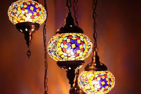 turkish mosaic hanging lamp 5