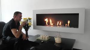 decor elegant ethanol fireplace for your living room ideas