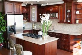 Kitchen Cabinet Wood Choices Cherry Kitchen Cabinets And Granite Countertops Color Choices