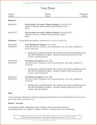 College Graduate Sample Resume Chic Inspiration College Grad