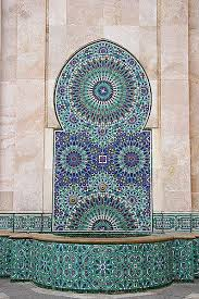 gorgeous navy and teal mosaic tile work in morocco w84 work