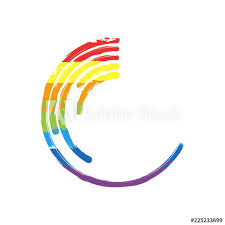 Rainbow Pie Chart Business Pie Chart Icon Drawing Sign With Lgbt Style Seven