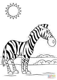 Small Picture Cartoon Zebra coloring page Free Printable Coloring Pages