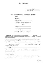 Lending Agreement Template Free Loan Agreement Templates
