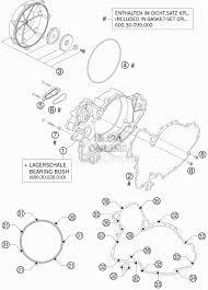 Запчасти для Мотоцикла ktm 2007 950 supermoto black Раздел clutch cover сцепление крышка