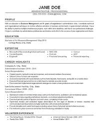 Administrative Resume Awesome 597 Administrative Resume Example Business Finance