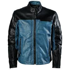 roland sands ronin colorblock perforated leather jacket write a review black blue steel