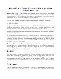 Writing A Good Resume Writing A Great Resume Therpgmovie 8