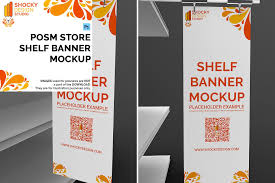 Shocky Design Studio Posm Store Shelf Banner Mockup Ad Ad Offer Special