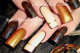 Michael Kors Nails   Designer Nail Art   DIVA Long Nail tutorial ...