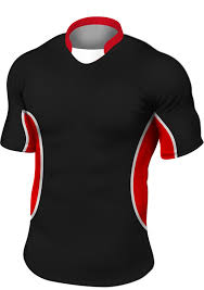 black red rugby shirt shorts socks style