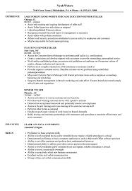 Resume Templates Teller Senior Stunning Manager Examples Job