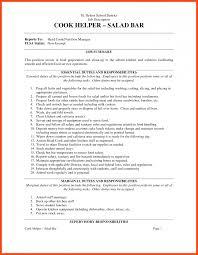 Prep Cook Resume Program Format