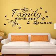 vinyl wall art decal decor e stickers family where life begins for living room decoration wall decor sticker wall decor stickers from flylife