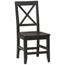 Black Wood Dining Chairs Linon Stewart Dining Chairs Set Of 2 Black Frame 19 Inch Seat