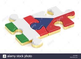 Repubblica Ceca e Italia puzzle dalle bandiere, rendering 3D Foto stock -  Alamy